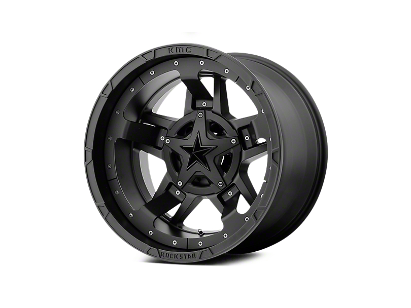 Rockstar XD827 RS3 Matte Black 5-Lug Wheel - 20x12 (02-18 RAM 1500, Excluding Mega Cab)