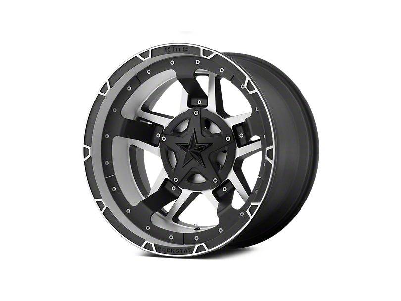 Rockstar XD827 RS3 Matte Black Machined 5-Lug Wheel - 17x8 (02-18 RAM 1500, Excluding Mega Cab)