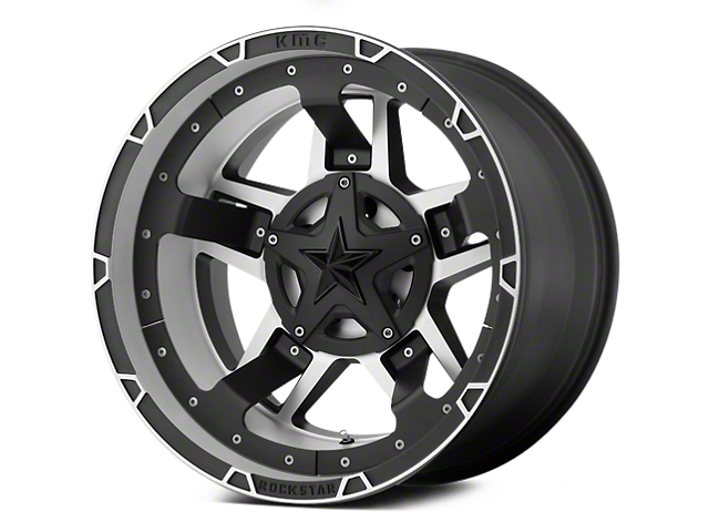 Rockstar XD827 RS3 Matte Black Machined 5-Lug Wheel - 17x8; 20mm Offset (02-18 RAM 1500, Excluding Mega Cab)