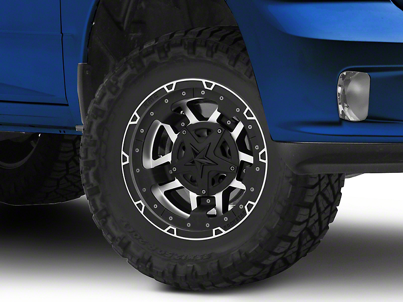 Rockstar XD827 RS3 Matte Black Machined 5-Lug Wheel - 17x9 (02-18 RAM 1500, Excluding Mega Cab)