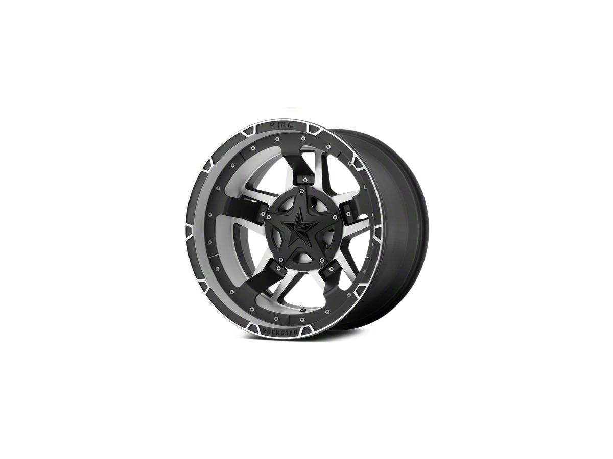 Rockstar XD827 RS3 Matte Black Machined 5-Lug Wheel - 18x9