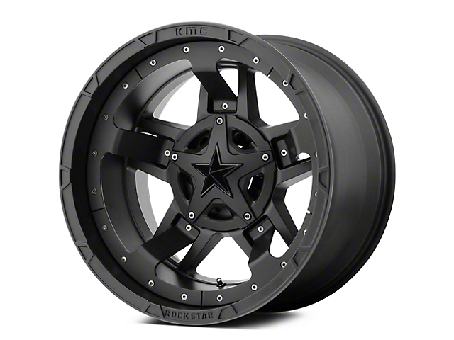 Rockstar XD827 RS3 Matte Black 5-Lug Wheel - 17x8 +20mm Offset (02-18 RAM 1500, Excluding Mega Cab)