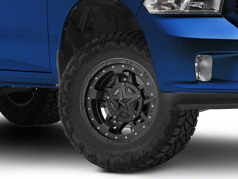Rockstar XD827 RS3 Matte Black 5-Lug Wheel - 17x9 (02-18 RAM 1500, Excluding Mega Cab)