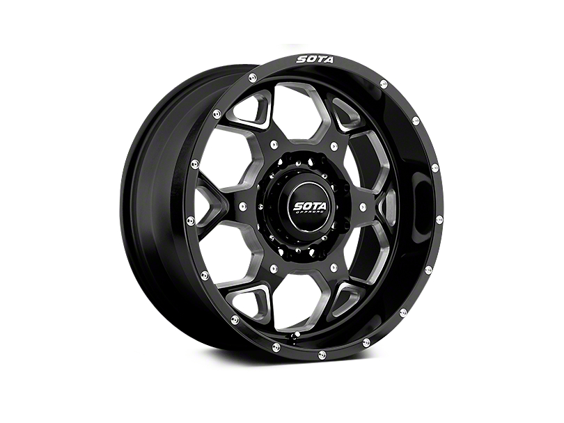 SOTA Off Road S.K.U.L. Death Metal 5-Lug Wheel - 20x9; 0mm Offset (02-18 RAM 1500, Excluding Mega Cab)