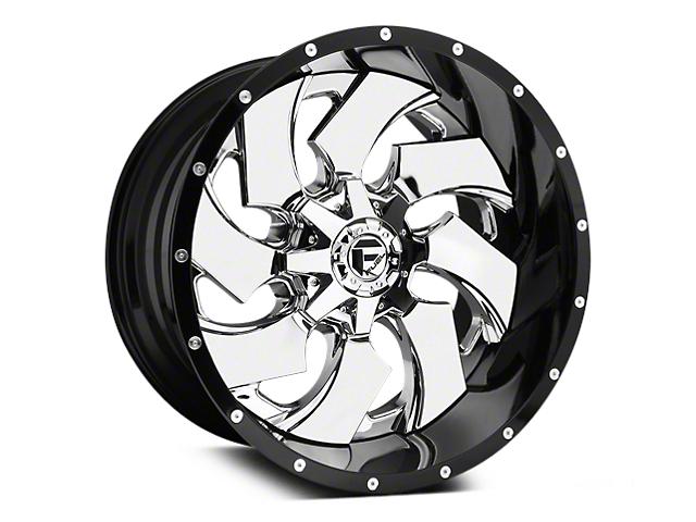 Fuel Wheels Cleaver Chrome w/ Gloss Black Lip 5-Lug Wheel - 20x10; -19mm Offset (02-18 RAM 1500, Excluding Mega Cab)