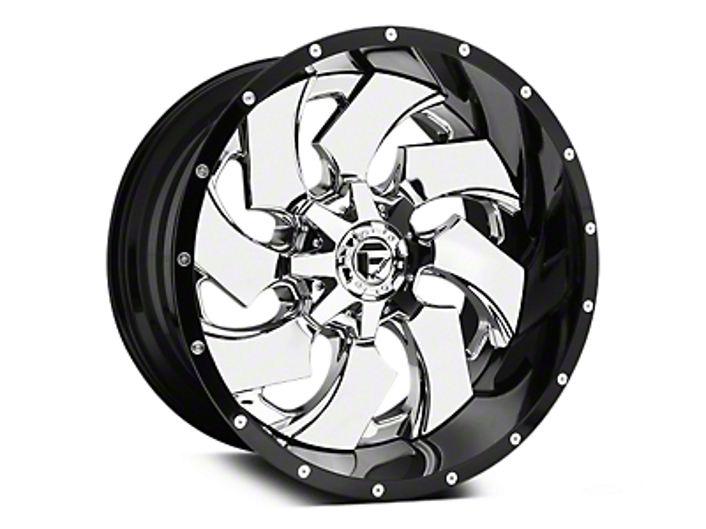 Fuel Wheels Cleaver Chrome w/ Gloss Black Lip 5-Lug Wheel - 20x10 (02-18 RAM 1500, Excluding Mega Cab)