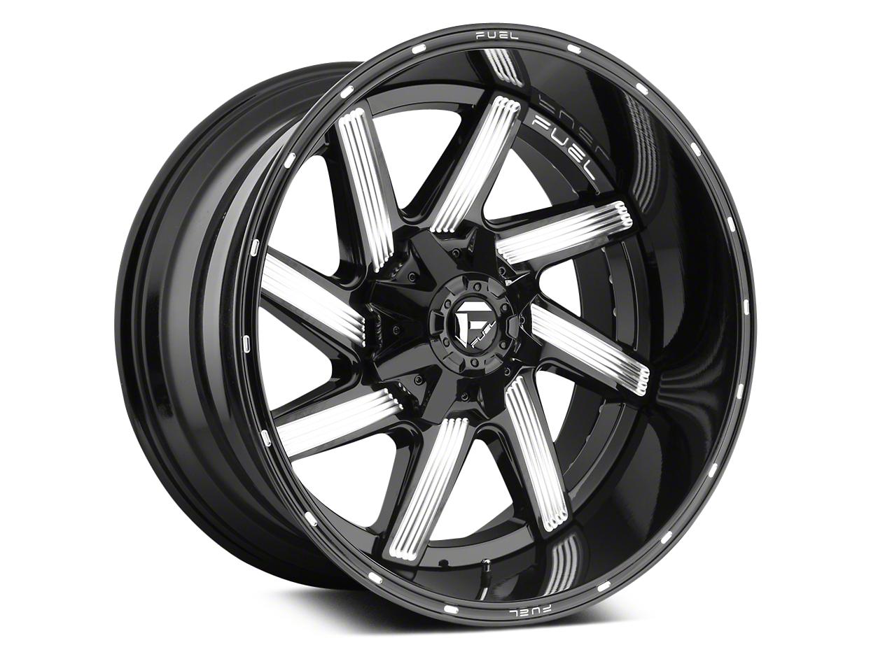 Fuel Wheels Moab Gloss Black Milled 5-Lug Wheel - 20x10 (02-18 RAM 1500, Excluding Mega Cab)