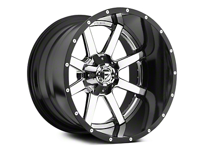 Fuel Wheels Maverick Chrome w/ Gloss Black Lip 5-Lug Wheel - 20x10 (02-18 RAM 1500, Excluding Mega Cab)