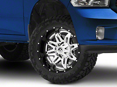 Fuel Wheels Lethal Black & Chrome 5-Lug Wheel 20x10 (02-18 RAM 1500, Excluding Mega Cab)
