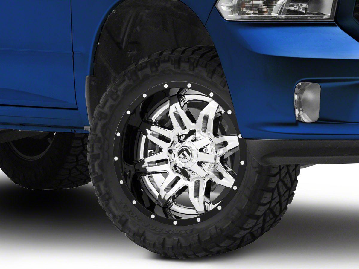 Fuel Wheels Ram Lethal Gloss Black Chrome 5 Lug Wheel 20x10 19mm Offset D26620007047 09 18 Ram 1500
