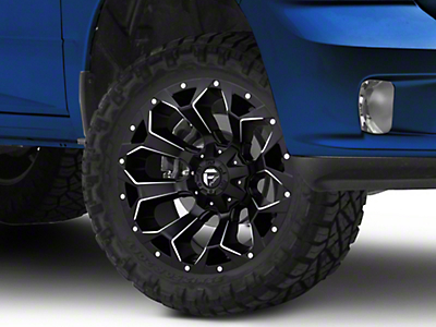 Fuel Wheels Assault Black Milled 5-Lug Wheel - 20x10 (02-18 RAM 1500, Excluding Mega Cab)