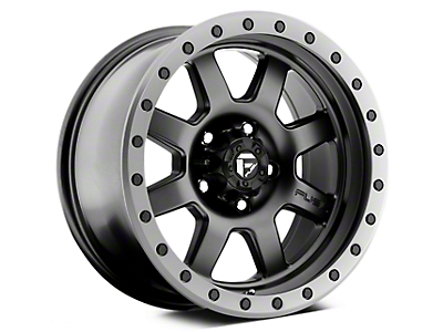 Fuel Wheels Trophy Matte Black w/ Anthracite Ring 5-Lug Wheel - 17x8.5 (02-18 RAM 1500, Excluding Mega Cab)