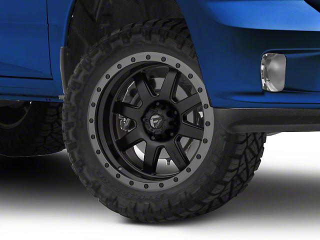 Fuel Wheels Trophy Matte Black w/ Anthracite Ring 5-Lug Wheel - 20x9 -12mm Offset (02-18 RAM 1500, Excluding Mega Cab)
