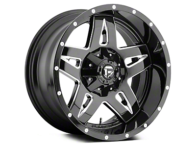 Fuel Wheels Full Blown Black Milled 5-Lug Wheel - 20x10 (02-18 RAM 1500, Excluding Mega Cab)
