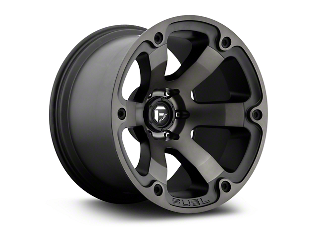 Fuel Wheels Beast Black Machined w/ Dark Tint 5-Lug Wheel - 18x9; -12mm Offset (02-18 RAM 1500, Excluding Mega Cab)