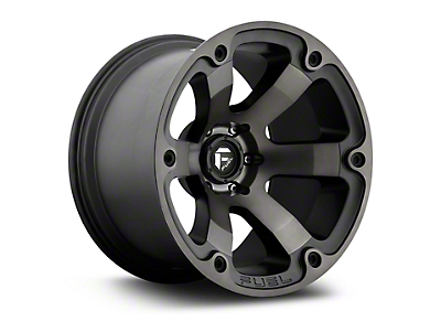 Fuel Wheels Beast Black Machined w/ Dark Tint 5-Lug Wheel - 18x9 (02-18 RAM 1500, Excluding Mega Cab)