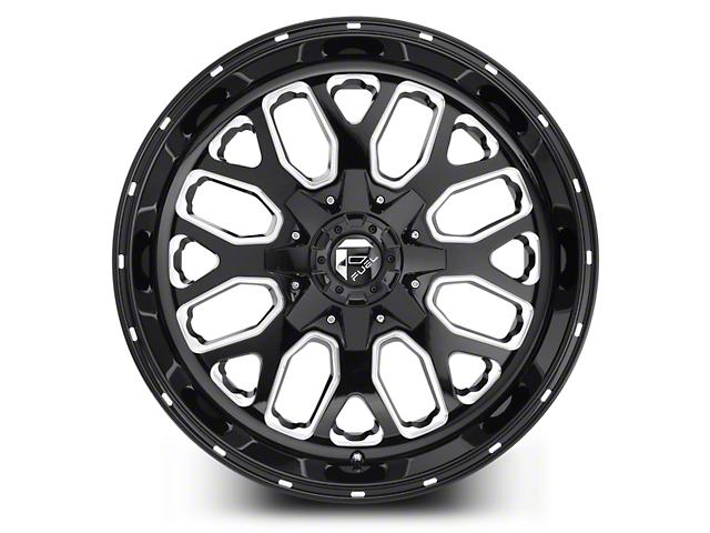 Fuel Wheels Titan Black Milled 5-Lug Wheel - 20x10; -18mm Offset (02-18 RAM 1500, Excluding Mega Cab)