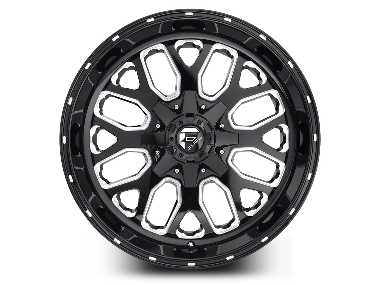 Fuel Wheels Titan Black Milled 5-Lug Wheel - 20x10 (02-18 RAM 1500, Excluding Mega Cab)