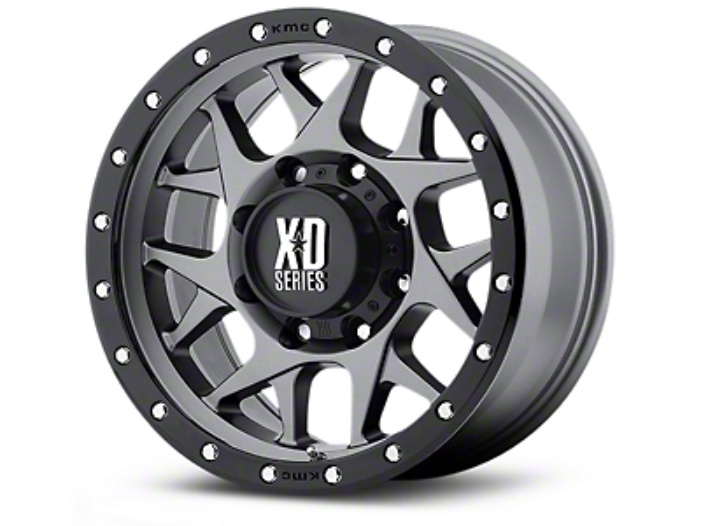 XD Bully Matte Gray w/ Black Ring 5-Lug Wheel - 20x9 (02-18 RAM 1500, Excluding Mega Cab)