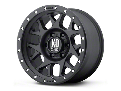 XD Bully Satin Black 5-Lug Wheel - 17x9 (02-18 RAM 1500, Excluding Mega Cab)