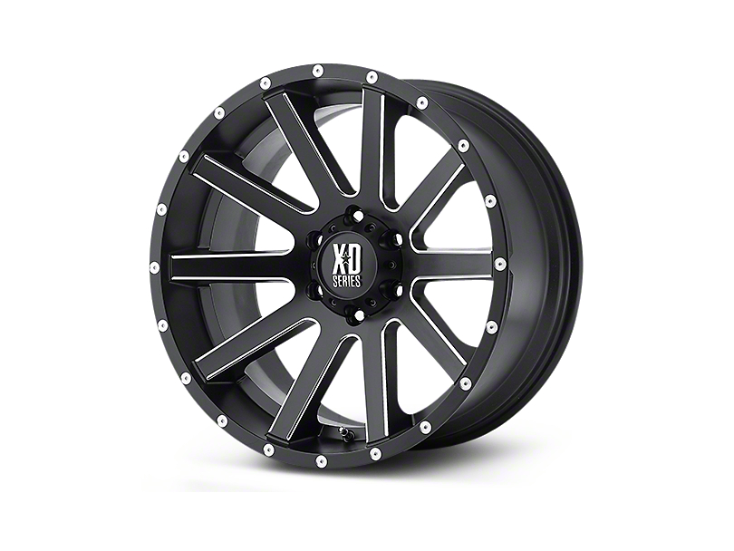 XD Heist Satin Black 5-Lug Wheel - 22x9.5 (02-18 RAM 1500, Excluding Mega Cab)