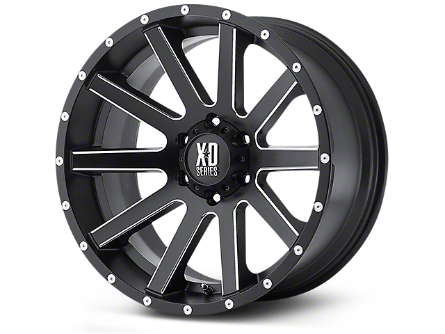 XD Heist Satin Black Milled 5-Lug Wheel - 22x9.5 (02-18 RAM 1500, Excluding Mega Cab)