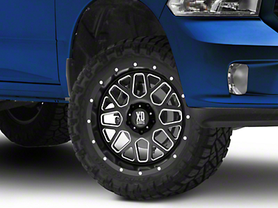 XD Grenade Satin Black Milled 5-Lug Wheel - 20x10 (02-18 RAM 1500, Excluding Mega Cab)