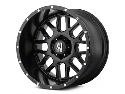 XD Grenade Satin Black 5-Lug Wheel - 18x9 (02-18 RAM 1500, Excluding Mega Cab)