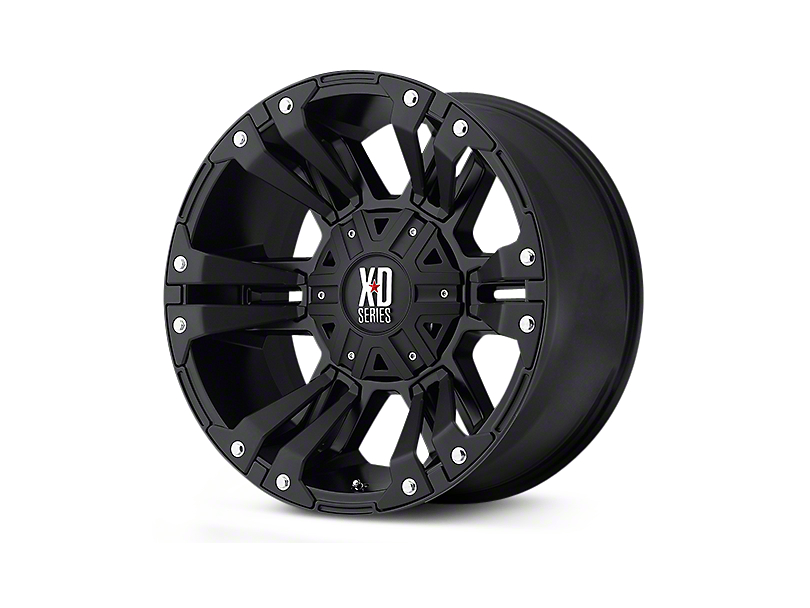XD Monster II Matte Black 5-Lug Wheel - 18x9; 18mm Offset (02-18 RAM 1500, Excluding Mega Cab)