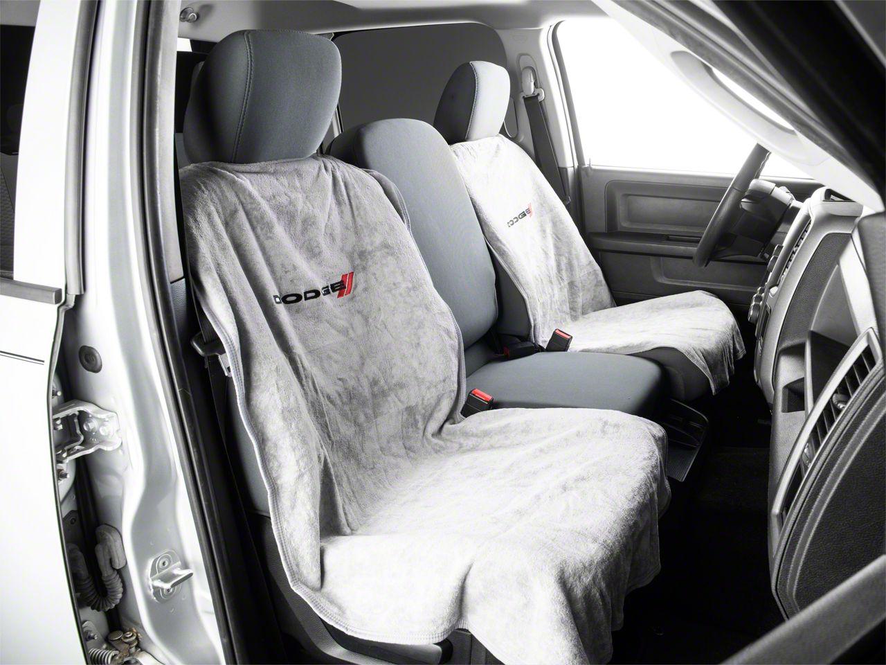 Ram 1500 Seat Protector With Dodge Logo Gray 02 21 Ram 1500