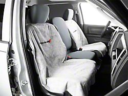 Seat Protector with Dodge Logo; Gray (02-20 RAM 1500)