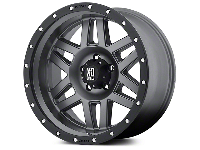 XD Machete Matte Gray w/ Black Ring 5-Lug Wheel - 20x9 (02-18 RAM 1500, Excluding Mega Cab)