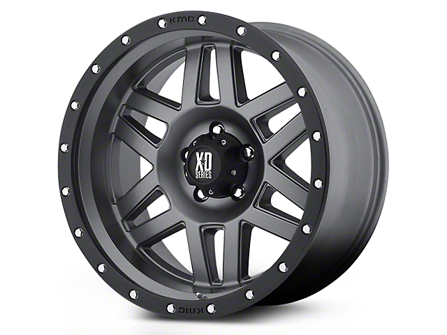 XD Machete Black Machined 5-Lug Wheel - 20x9 (02-18 RAM 1500, Excluding Mega Cab)