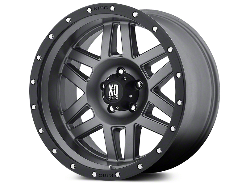 XD Machete Matte Gray w/ Black Ring 5-Lug Wheel - 17x9 (02-18 RAM 1500, Excluding Mega Cab)