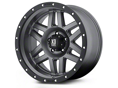 XD Machete Black Machined 5-Lug Wheel - 17x9 (02-18 RAM 1500, Excluding Mega Cab)