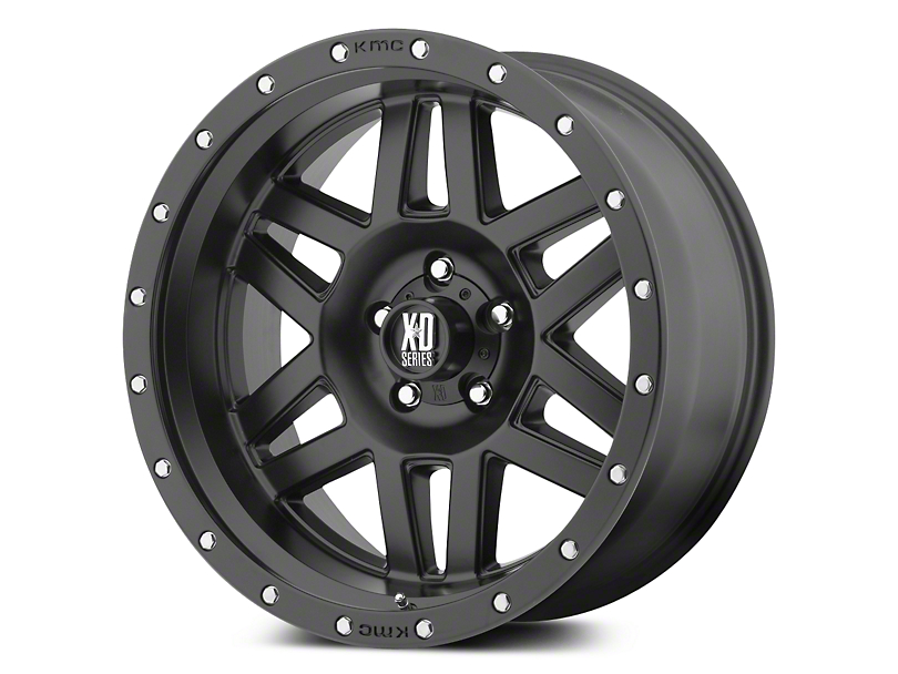XD Machete Satin Black 5-Lug Wheel - 17x9 (02-18 RAM 1500, Excluding Mega Cab)