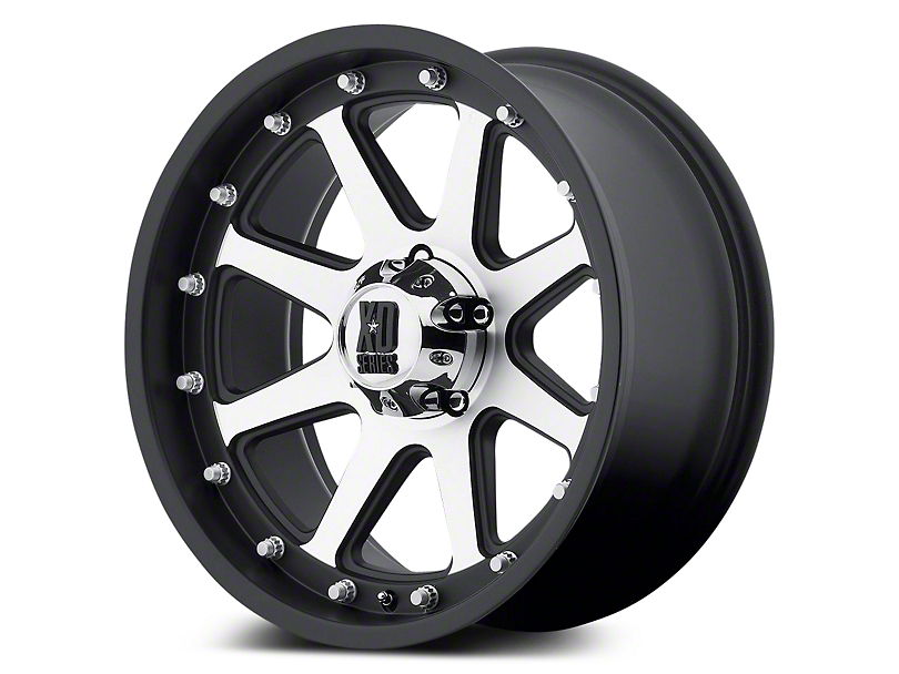 XD Addict Matte Black Machined 5-Lug Wheel - 17x9 (02-18 RAM 1500, Excluding Mega Cab)