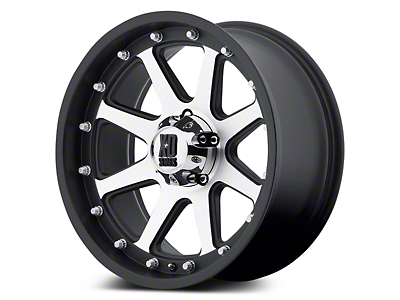 XD Addict Matte Black Machined 5-Lug Wheel - 17x9 (02-18 RAM 1500, Excluding Mega Cab)