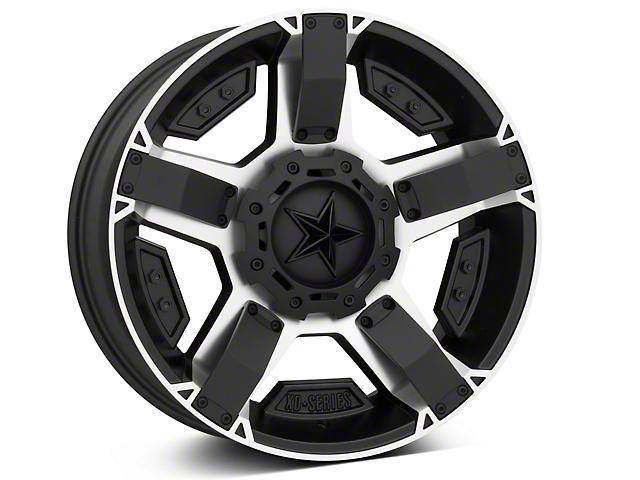 Rockstar XD811 RS2 Black Machined 5-Lug Wheel - 20x9 (02-18 RAM 1500, Excluding Mega Cab)