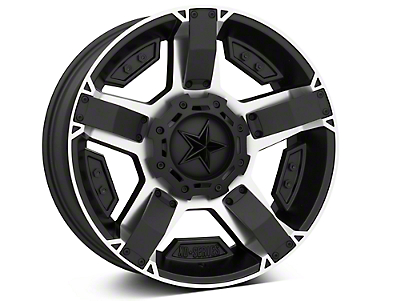 Rockstar XD811 RS2 Black Machined 5-Lug Wheel - 20x9 (02-18 RAM 1500, Excluding Mega Cab)