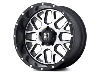 XD Grenade Satin Black Machined 5-Lug Wheel - 20x9 (02-18 RAM 1500, Excluding Mega Cab)