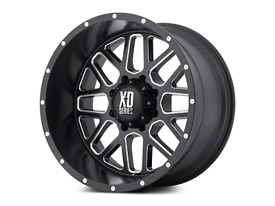 XD Grenade Satin Black Milled 5-Lug Wheel - 20x9 (02-18 RAM 1500, Excluding Mega Cab)