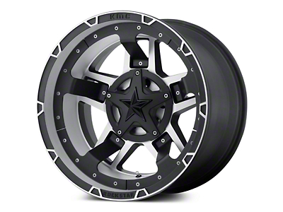 Rockstar XD827 RS3 Matte Black Machined 5-Lug Wheel - 20x9 (02-18 RAM 1500, Excluding Mega Cab)