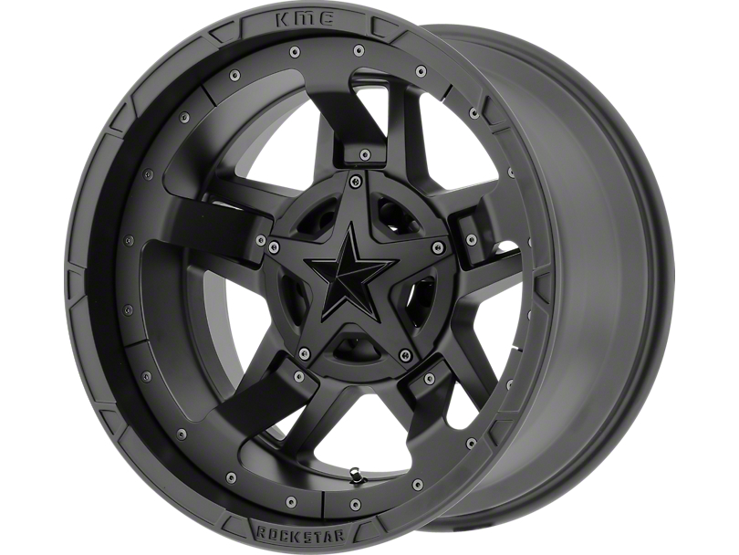 Rockstar XD827 RS3 Matte Black 5-Lug Wheel - 20x9 (02-18 RAM 1500, Excluding Mega Cab)