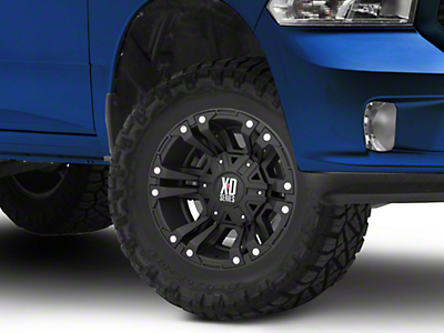 XD Monster II Matte Black 5-Lug Wheel - 17x9 (02-18 RAM 1500, Excluding Mega Cab)