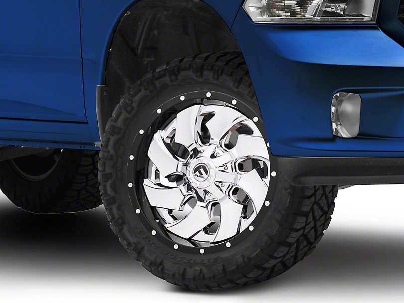 Fuel Wheels Cleaver Chrome w/ Gloss Black Lip 5-Lug Wheel - 20x9 (02-18 RAM 1500, Excluding Mega Cab)