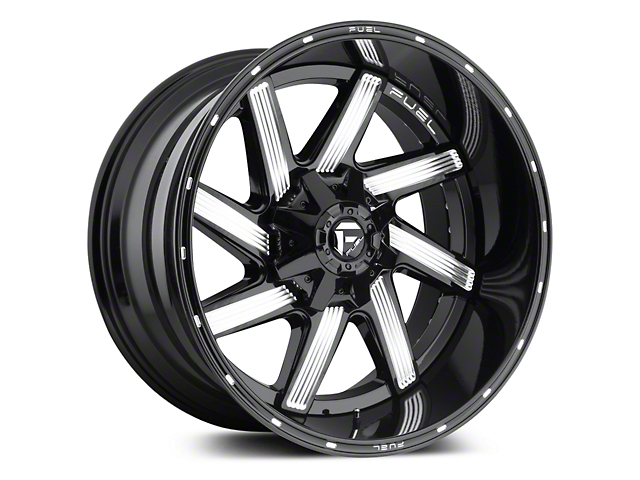 Fuel Wheels Moab Gloss Black Milled 5-Lug Wheel - 20x9 (02-18 RAM 1500, Excluding Mega Cab)