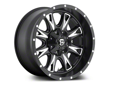 Fuel Wheels Throttle Black Milled 5-Lug Wheel - 18x9 (02-18 RAM 1500, Excluding Mega Cab)