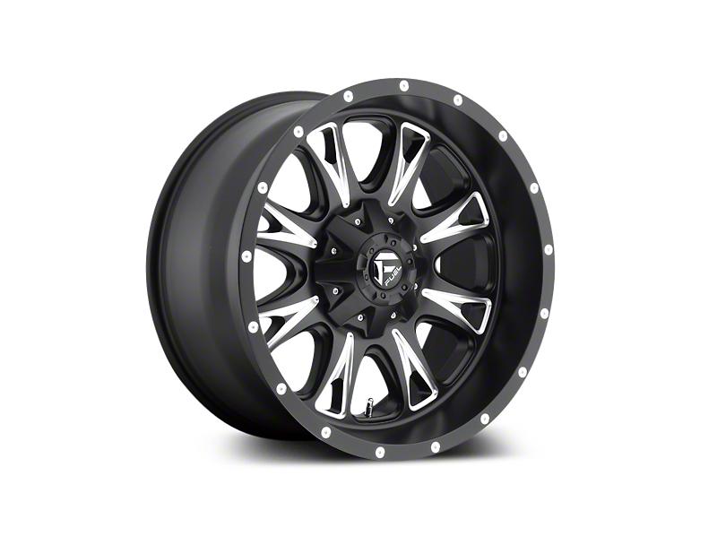 Fuel Wheels Throttle Black Milled 5-Lug Wheel - 20x9 (02-18 RAM 1500, Excluding Mega Cab)