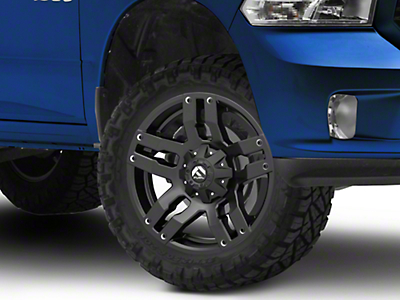 Fuel Wheels Black Matte Pump 5-Lug Wheel 20x9 (02-18 RAM 1500, Excluding Mega Cab)